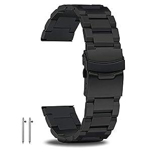 18mm 20mm 22mm 24mm Schnellwechsel-Uhrenarmbänder Edelstahl Herrenuhrenarmband Premium-Metallarmbänder für Herren Großes Metallarmband mit doppelter sicherer Faltschließe