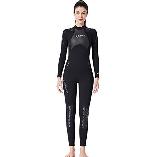 HBRT Damen Neoprenanzug 3mm Neoprenanzug für Open Water Schwimmen Ironman Tauchen Schnorcheln Surfen Urlaubsreisen,L