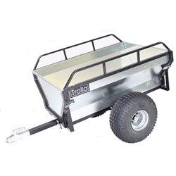 Preisvergleich Produktbild Anhänger für Rasentraktor Trolla Hänger 400 kg mit breiten Lufträdern und Kugelkopfkupplung