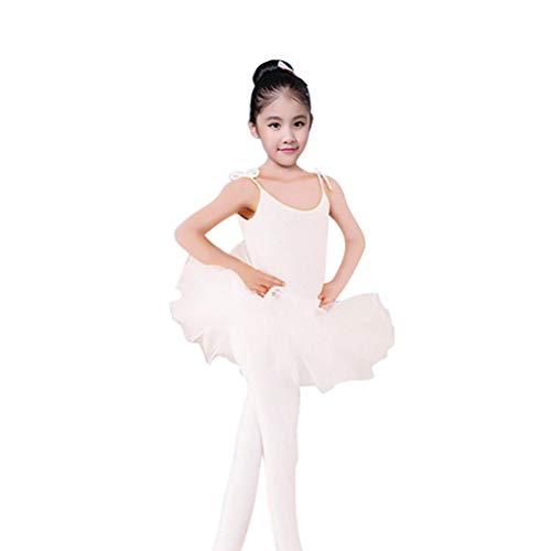 Tutu-Trikotanzug-Kleid-Tanzen-Rock-ärmelloses Tanzen-Kostüm der kleinen Mädchen Unterhemd (Kostüm Der Kleinen Mädchen)