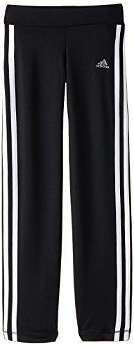 adidas Mädchen Trainingshose Girls Clima Straight Pant, Schwarz/Weiss, 152, S20251 -