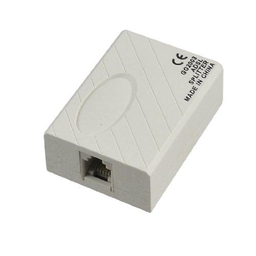 Telephone ADSL Modem 6P2C RJ11 Line Splitter Filter White