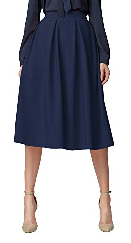 Women's Flared A line Skirt Pleated Midi Skirt with for sale  Delivered anywhere in UK