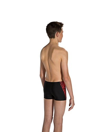 Speedo Boom Splice Short de bain garçon, Enfant, Boom Splice Multicolore (Noir/Rouge)