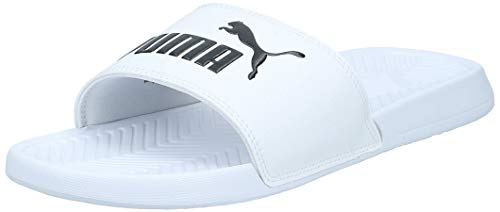 PUMA Popcat, Zapatos de Playa y Piscina Unisex Adulto, White Black, 44.5 EU
