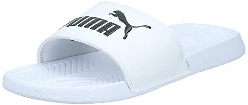 Puma popcat, scarpe da spiaggia e piscina unisex-adulto, bianco (white/black), 44.5 eu