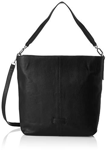 Liebeskind Berlin Damen Essential Hobo Medium Schultertasche, Schwarz (Black), 13x34x30 cm (Hobo Taschen Schwarz)