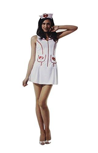 4b829fc94c takestop Costume Carnevale Infermiera Sexy Taglia Unica CROCEROSSINA Nurse  Vestito Abito Travestimento Cosplay Adulto