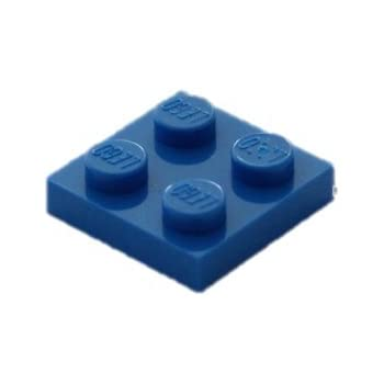 New LEGO Lot of 8 Dark Bluish Gray 2x2 Basic Building Plate Pieces