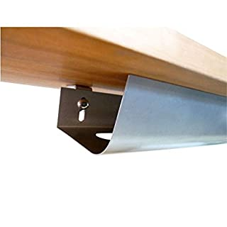 Kabelwanne, 80cm, abklappbar, einfache Montage durch mitgelieferter Montage-Schablone - auch in 46 cm Länge verfügbar - Made in Germany