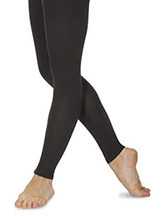 Two Pairs of Ladies Footless Opaque Tights in Large Black FREE POST
