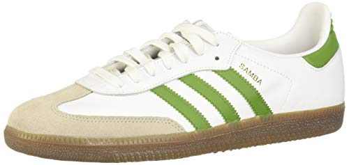 adidas Herren Samba Og Sneaker, Weiß (FTWR White/Tech Olive/Light Brown), 44 EU
