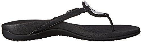 Vionic Womens Karina Leather Sandals Black