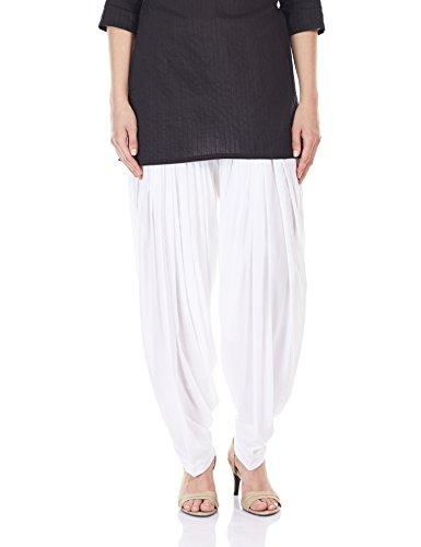 Aurelia Women\'s Cotton Patiala (CRK60025-20236_WHITE_FS)