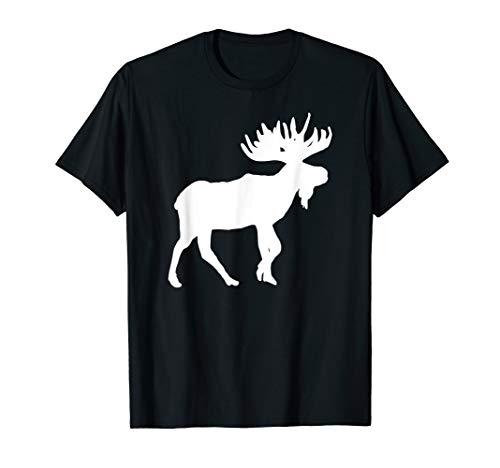 Elch Weiß Silhouette Weihnachten Neujahr Design T-Shirt