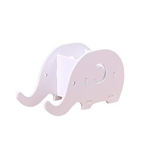 Ranvi Forma de Elefante Taza de la Pluma, Soporte de Escritorio de gestión de la Pluma, Soporte de teléfono móvil, Blanco