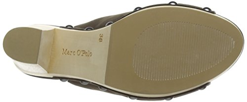 Marc O'Polo High Heel Peeptoe, Sandales Plateau femme Gris - Grau (dark grey 930)