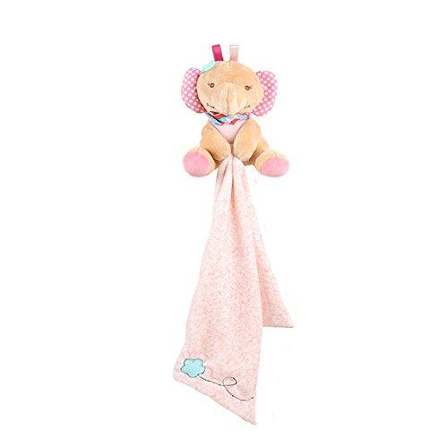 INCHANT Kind Plüsch Decken - Baby seidig weich Fleece Werfen Sicherheit Blankie, Kleinkind Plushy Sicherheit Blanket Spielzeug, Pink Elephant