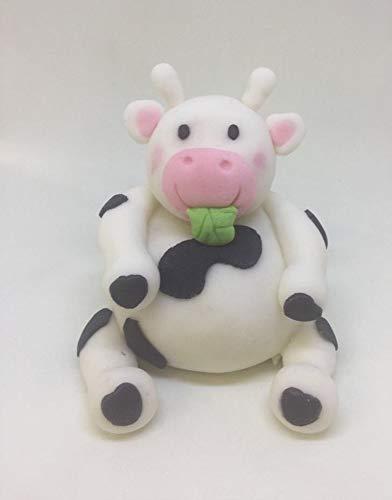 Essbare Kuh, Geburtstag, Babyparty, Taufe, Tortenaufsatz (Essbare Cake Topper Taufe)