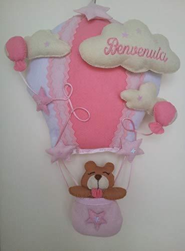 Polly b. fiocco nascita mongolfiera orsetta personalizzabile