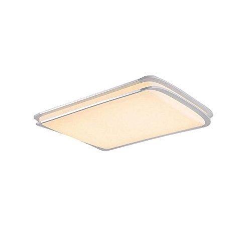 ß LED Deckenleuchte Deckenlampe Doppelte-Schichten Modern Panel Leuchte Flur Wohnzimmer bad Küche Schlafzimmer Küche Energie Sparen Licht Wandleuchte Lampe (48W WarmWeiß) ()