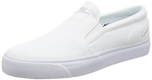 Nike Damen Wmns Toki Slip Canvas Turnschuhe, Blanco (White/Mtlc Platinum), 42 EU (Nike Slip)