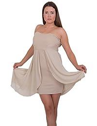 GIOVANI & RICCHI Damen Vokuhila-Minikleid Kleid Chiffon One Size
