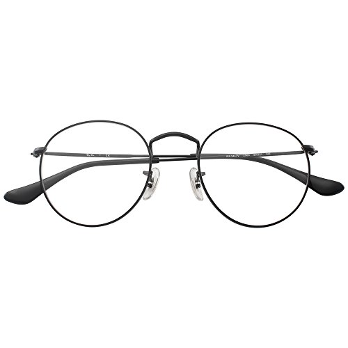 day spring online shop Classic Round Metal Clear Lens Glasses Frame Unisex Vintage Designer Circle Eyeglasses-black