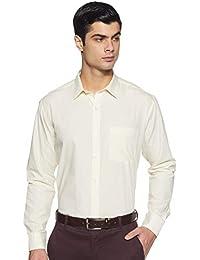 Amazon Brand - Symbol Men's Solid Regular fit Formal Shirt