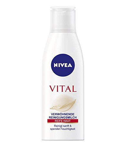 Nivea Vital Verwöhnende Reinigungsmilch für reife Haut, 1er Pack (1 x 200 ml)