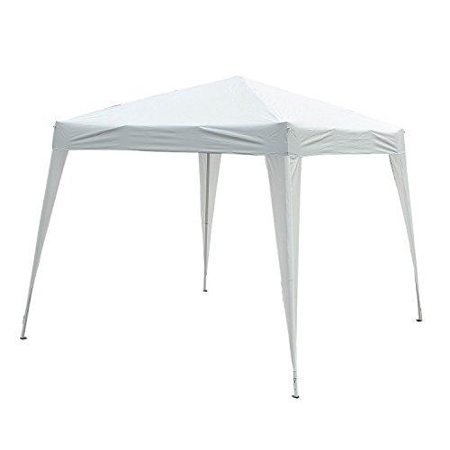 Outsunny Gazebo Popup 3 × 3m Impermeabile Pieghevole Tenda da Giardino Bianco