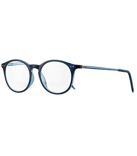 Caripe Herren Damen Lesebrille rund Retro Nerd Vintage Lesehilfe + Brillen-Etui- M2127 (+ 1,5 dpt -...