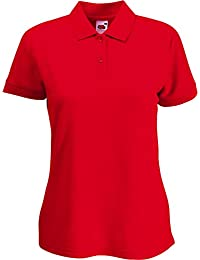 Fruit of the Loom Damen Lady-Fit Poloshirt 65/35 XS S M L XL XXL verschiedne Größen