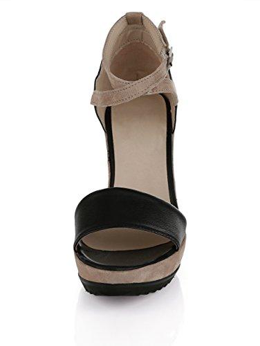 Damen Sling-Sandalette by Alba Moda Beige/Schwarz