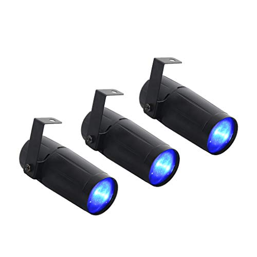 3 PCS/Lots Mini Tragbar 3W Blau Single Farbe Rampenlicht Strahler Deko-Leuchtmittel DJ Show Bühne LED Spotleuchten LE-M02-U