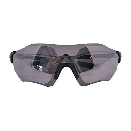 Panda Life Polarisiert Fahrradbrille Motorrad Brille Sonnenbrille für Sport Autofahren Brillen mit abziehbar Kurzsichtlinsen (Schwarz mit Kurzsichtlinsen)