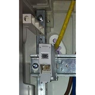 ABN Braun BT HC1EDAT Module Cat6a LGR RAL7035E-Data Outlet REG8(8) RJ45Modular Connector 4015153407572
