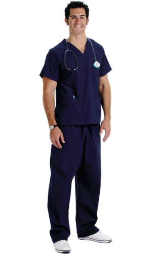 NCD Medical/Prestige Medical  50505-1 scrub top-navy XL (Pocket-v-ausschnitt-scrub-top)