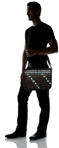 Lonsdale Schultertasche Letters Black