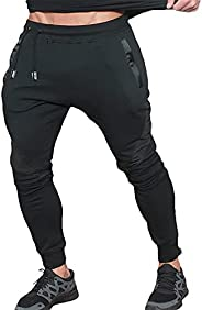 MECH-ENG Men's Gym Workout Joggers Pants Active Trousers Casual Fitness Sweatp