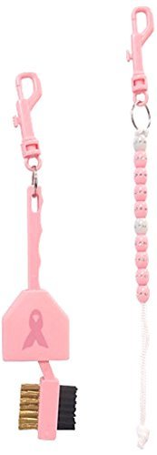 Price comparison product image JP Lann Golf Ribbon Breast Cancer Awareness Accessory with Brush and Bead Counter, Pink by JP Lann Golf