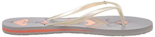Roxy - Bermuda J Sndl So1, Sandali infradito Donna Argento (Silber (Silver Orange))