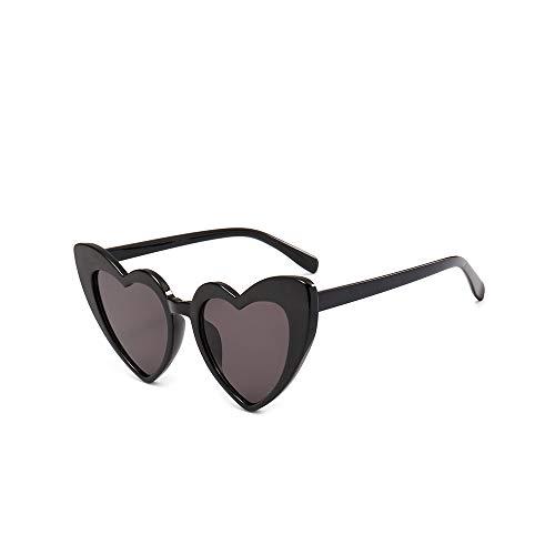 WJFDSGYG Herz Sonnenbrille Damen Designer Cat Eye Sonnenbrille Love Heart Shaped Glasses Ladies Shopping Sunglass Uv400