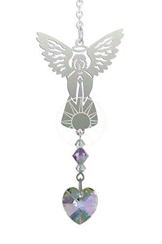 Acchiappasole in cristallo swarovski a forma di angelo con pietra portafortuna