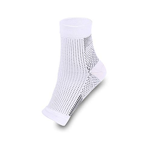 Foot Angel Anti Fatigue Compression Foot Sleeve Arch Support for Sport Running Hiking White S/M -