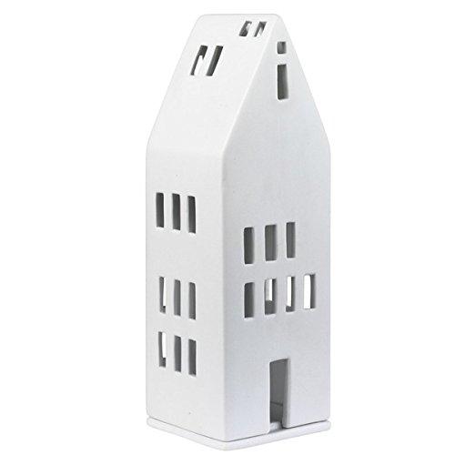 Räder Design 10848 Lichthaus große Fenster - Porzellan - weiß - Höhe 22,2cm