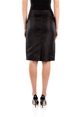 P104CNERO Prada Röcke Damen Seide Schwarz Schwarz