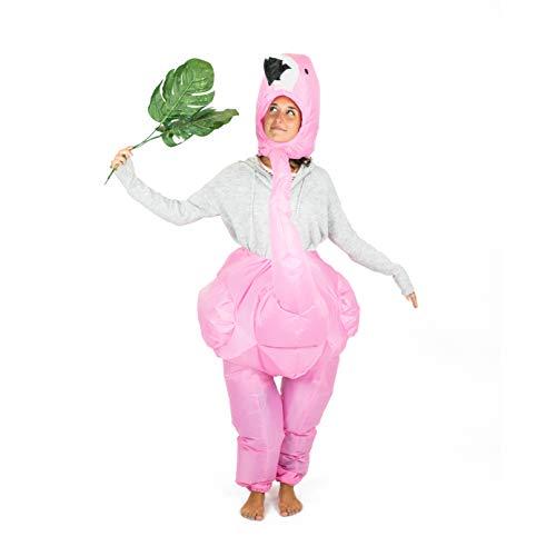 Bodysocks® Aufblasbares Flamingo Kostüm für Erwachsene (Pink Flamingo Halloween-kostüm)