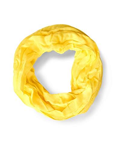 Street One Damen 570951 Loop Schal, Gelb (Creamy Lemon 11848), One Size (Herstellergröße:A)