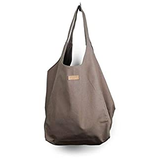 Aspegren Tasche Shopper Beach Bag Mano Bag Wood braun Canvas 100% Baumwolle